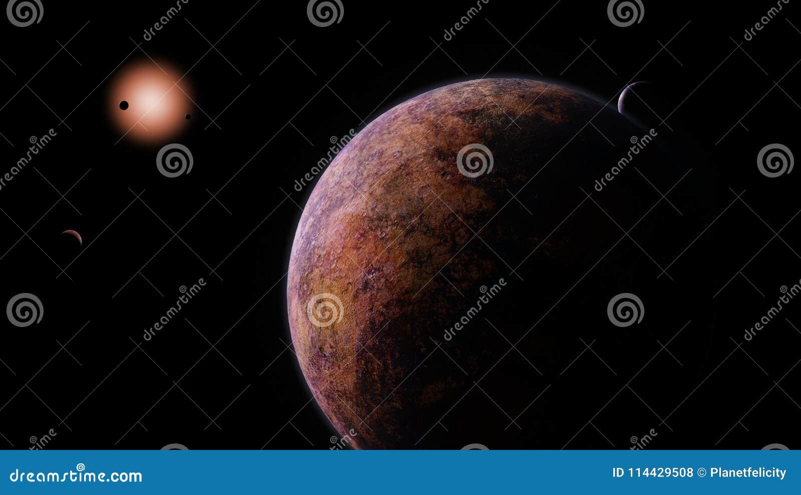 Exoplanets que orbita uma estrela de anão vermelho