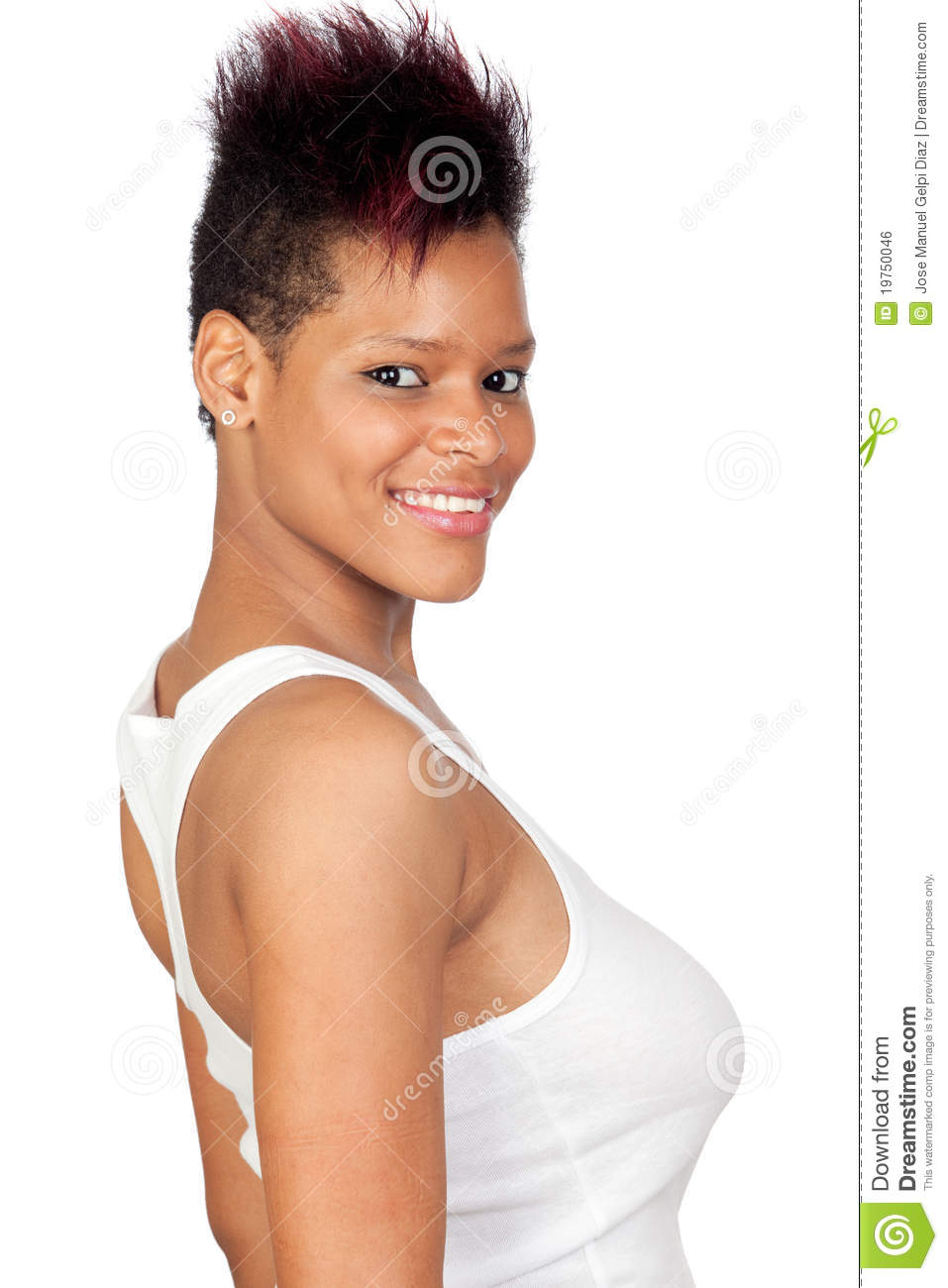 Exotic african girl stock photo. Image of breast, ethnic - 19750046