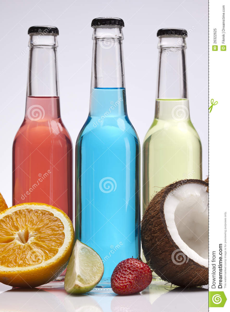 Exotic Bottle Alcohol Cocktail Royalty Free Stock Photo ...