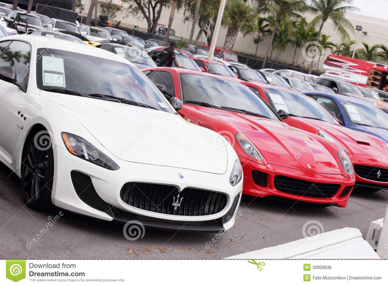 Exotic Cars At Prestige Imports Editorial Photo - Image of miami ...