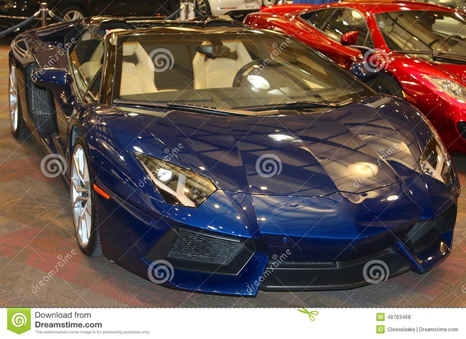 Lamborghini In Dazzling Midnight Blue Editorial Stock Photo Image Of Dazzling International 48783468