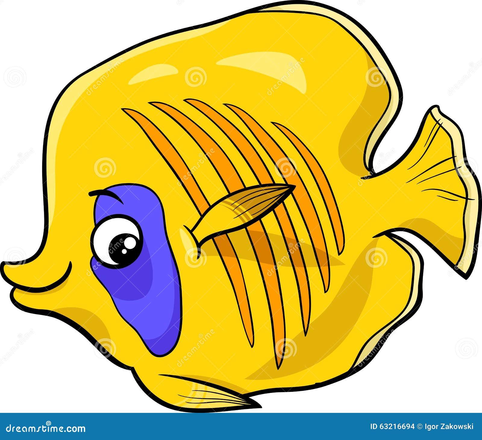 Exotic Fish Cartoon Character Stock Vector