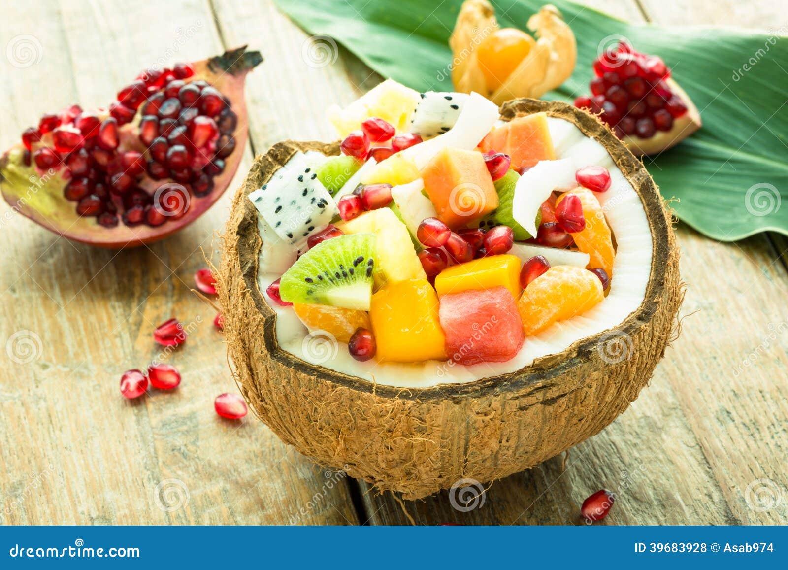 Exotic fresh fruit salad