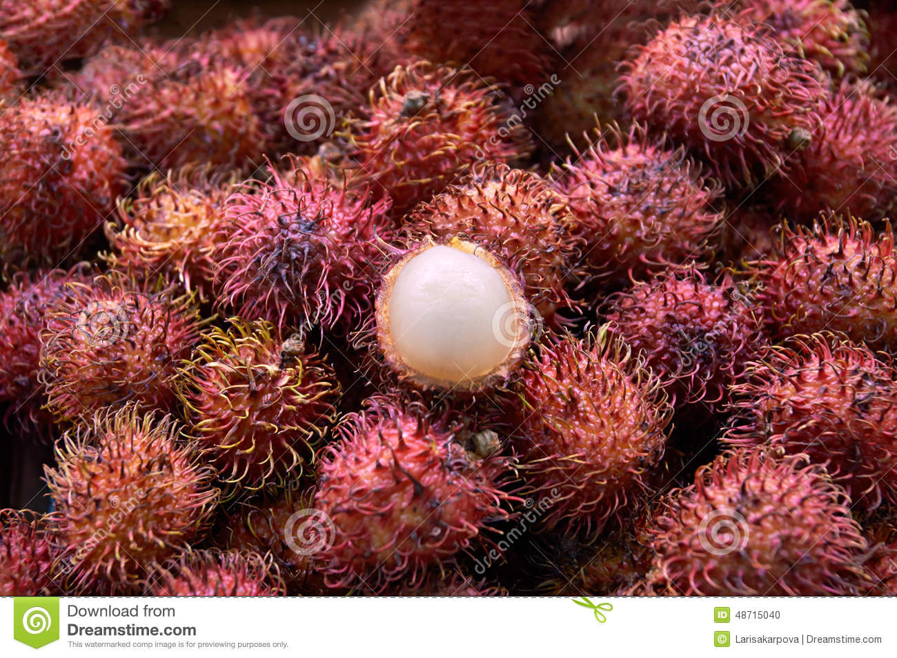 exotic fruit rambutan hairy with hairy skin stock photo - image of