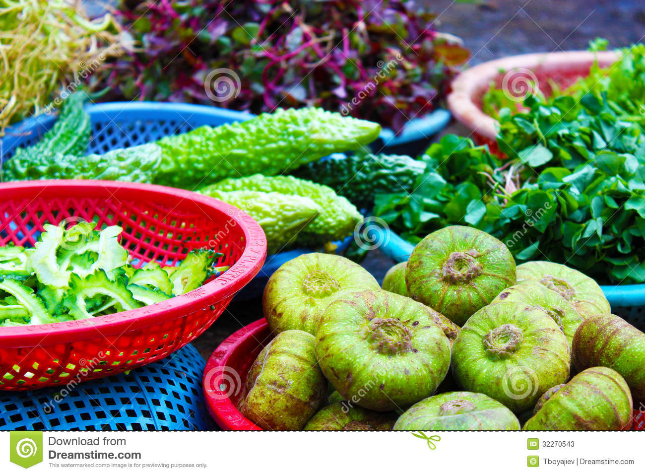 Exotic Fruits And Vegetables In Vietnam Stock Image ...