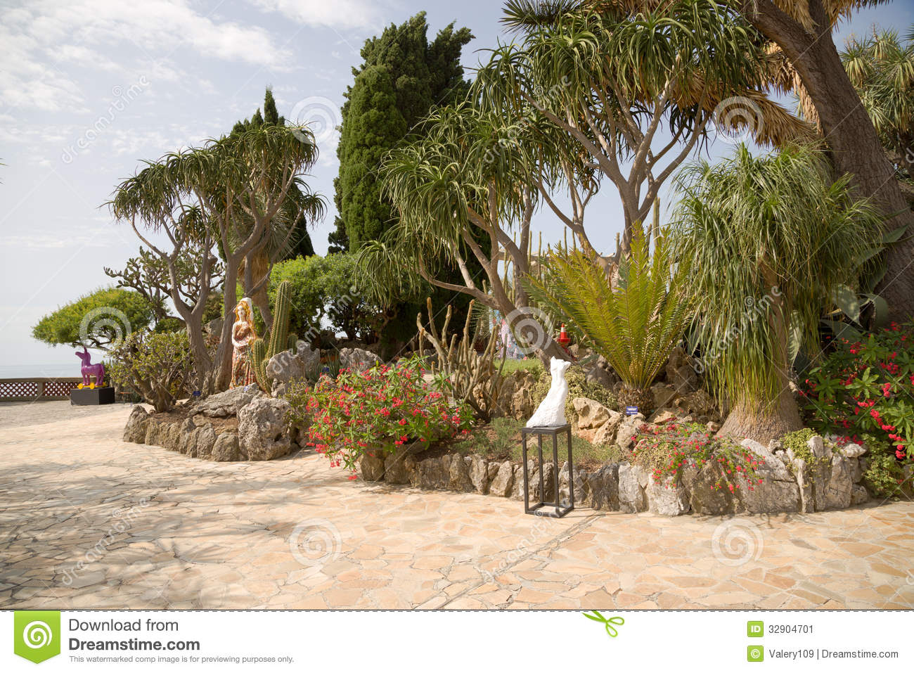 The Exotic Garden Of Monaco Stock Image Image 32904701
