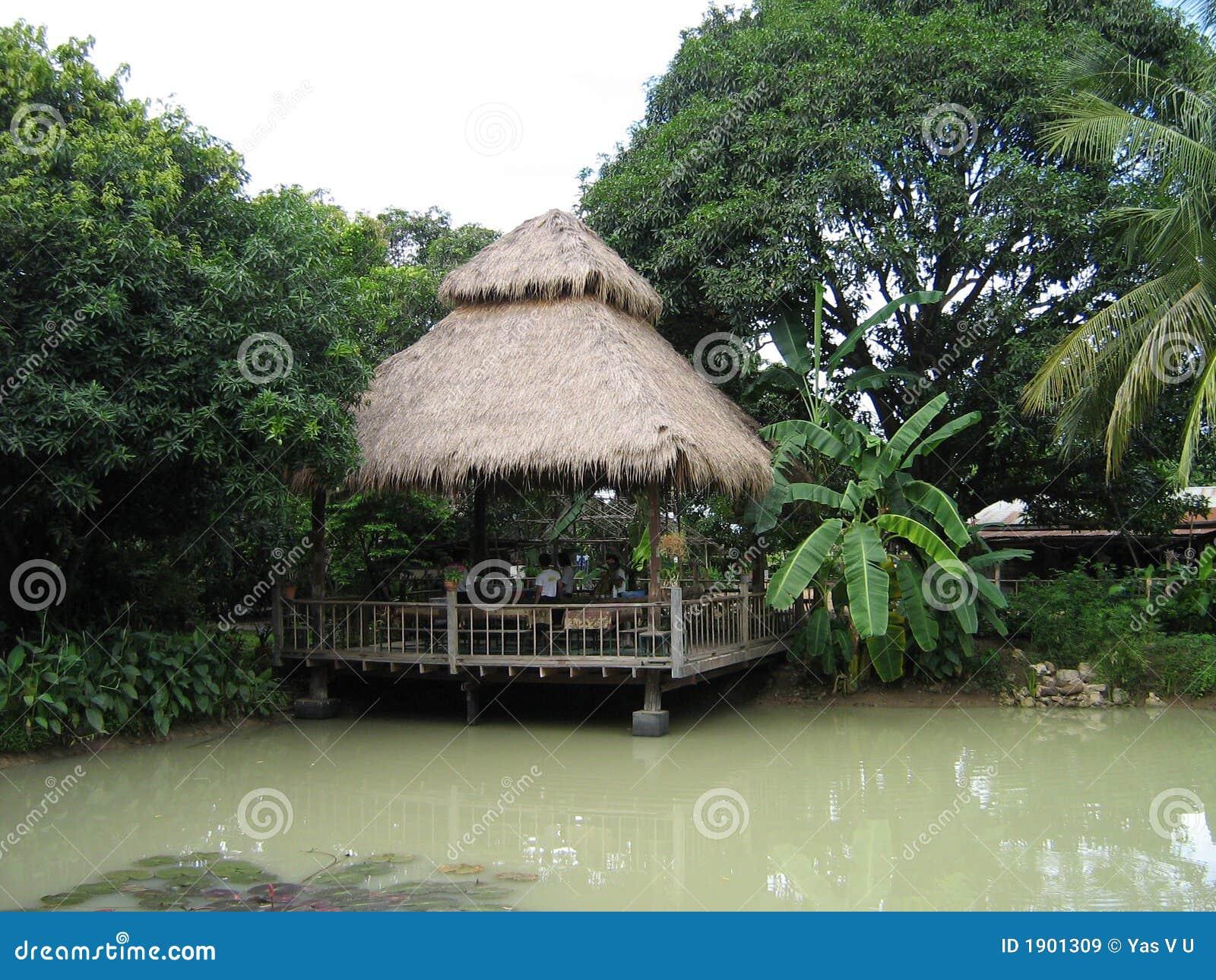 Exotic Jungle Hut Royalty Free Stock Images Image 1901309