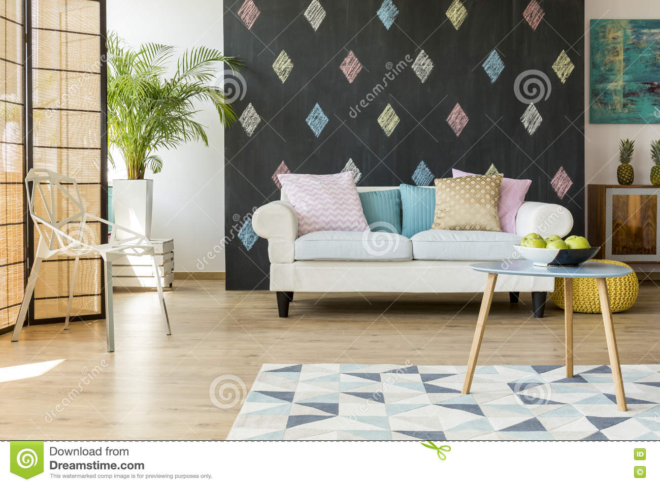 Living Room Modern Furniture Exotic Living Room With Modern Furniture Stock Photo Image 80280206