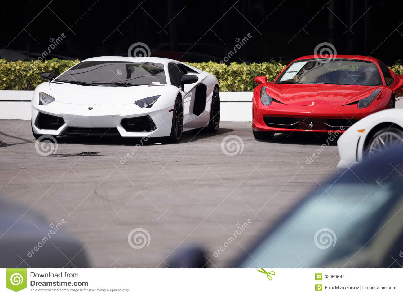 exotic sports cars for sale editorial photography image 33950642. Black Bedroom Furniture Sets. Home Design Ideas