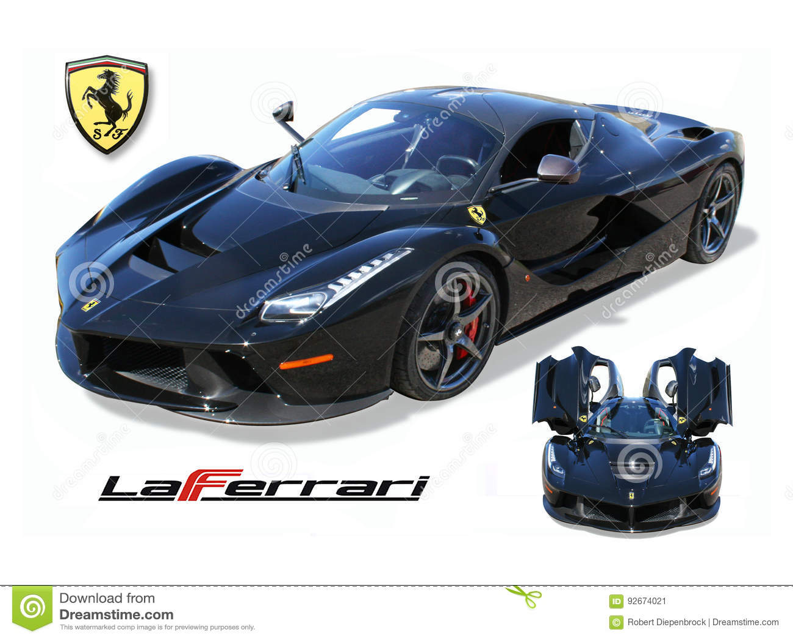 Exotic Super Car Laferrari Isolated Editorial Photo Image Of