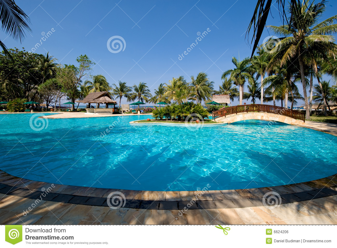 Exotic Swimming Pool Near The Beach Royalty Free Stock Image Image 6624206