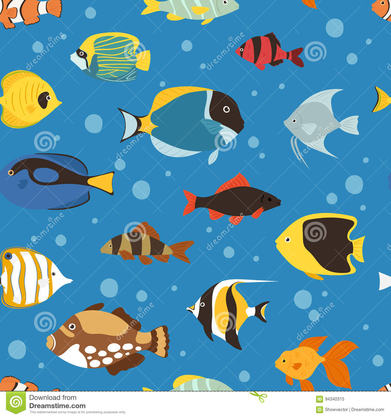 Marine cartoons illustrations vector stock images for Seamless fish tank