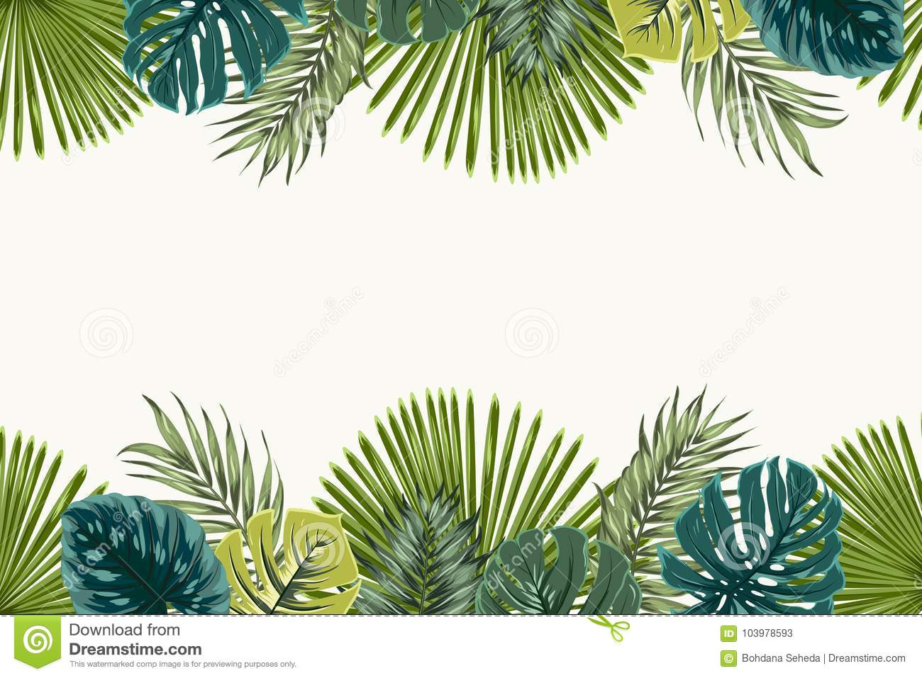 Exotic Tropical Leaves Top Bottom Border Frame Stock Vector Illustration Of Background Border 103978593 How do you do tropical rainforest landscaping? https www dreamstime com exotic tropical leaves top bottom border frame jungle rainforest bright green navy turquoise palm tree monstera template image103978593