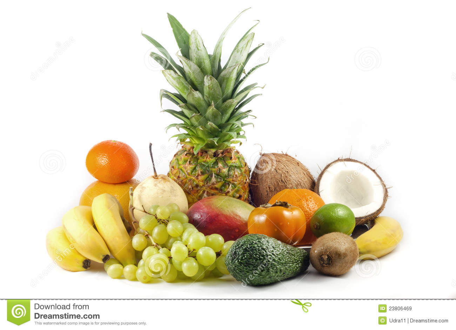Exotisch en tropische vruchten stock afbeelding afbeelding 23806469 - Ontwerp voorgerecht ...