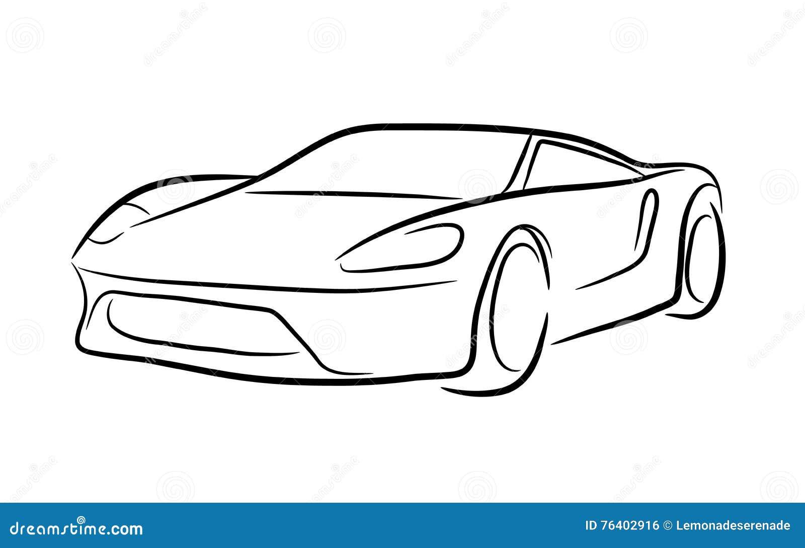 Exotischer Auto-Entwurf vektor abbildung. Illustration von exotisch ...