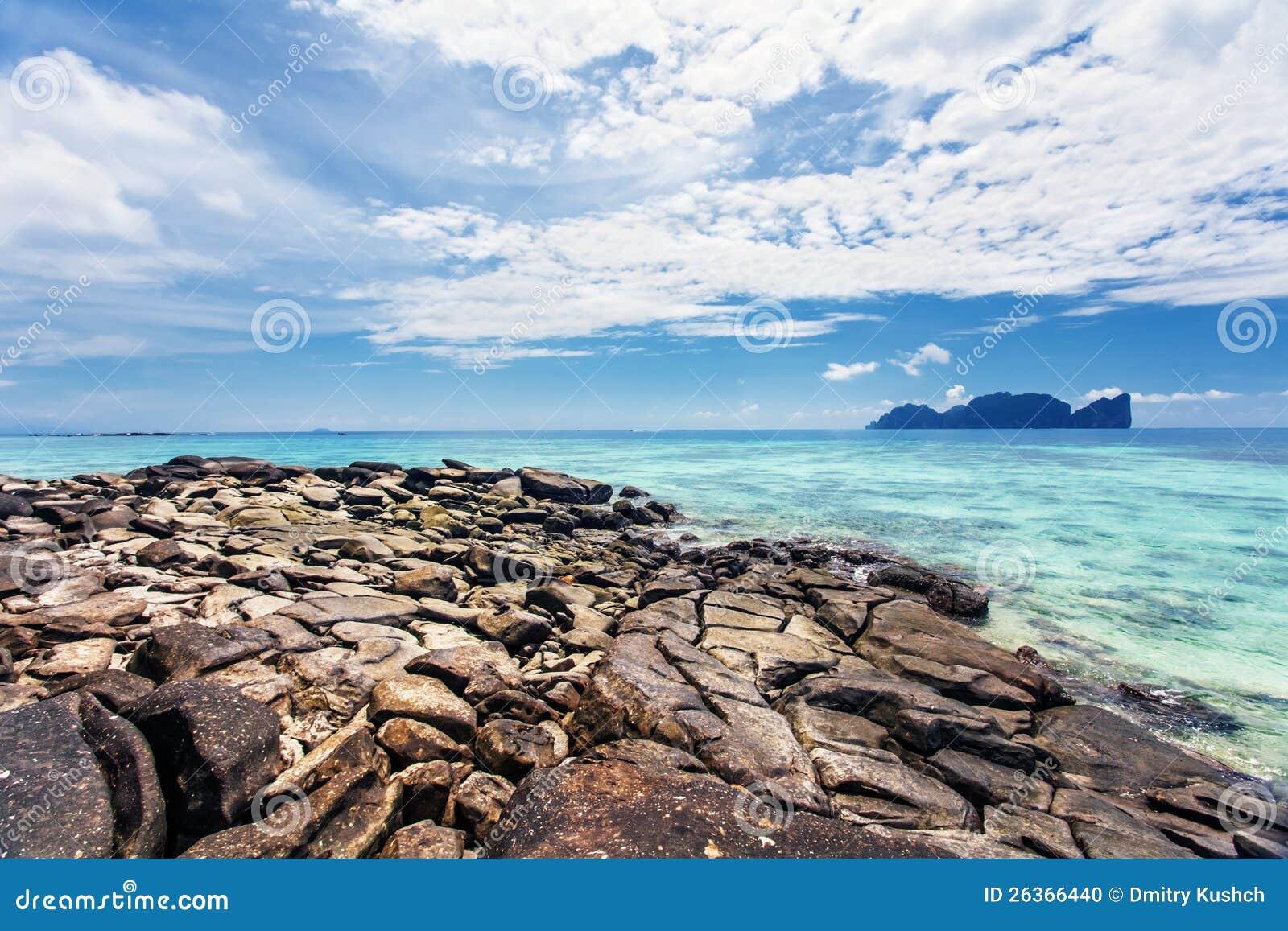 Exotischer tropischer Strand.