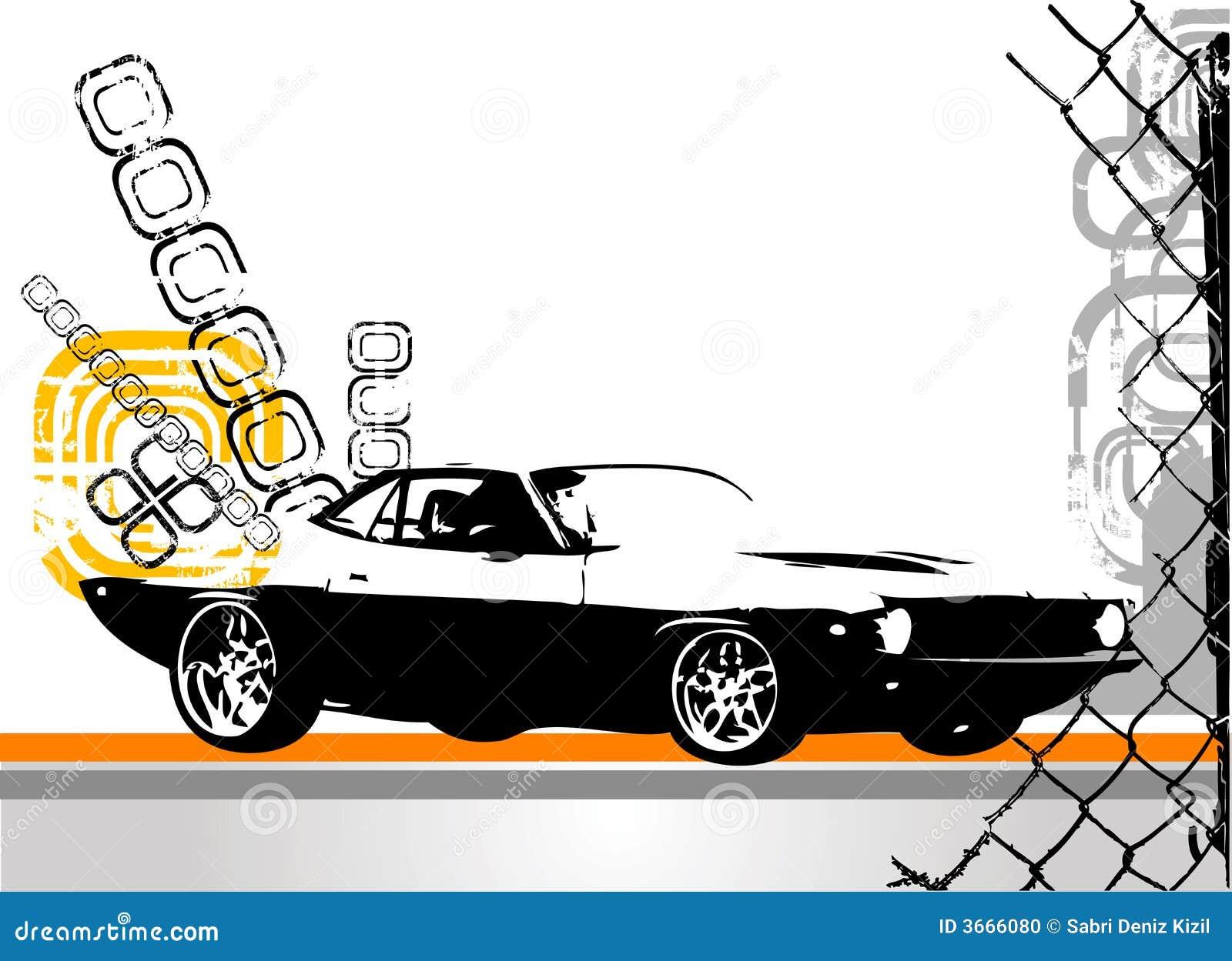 Exotisk vektor för bil