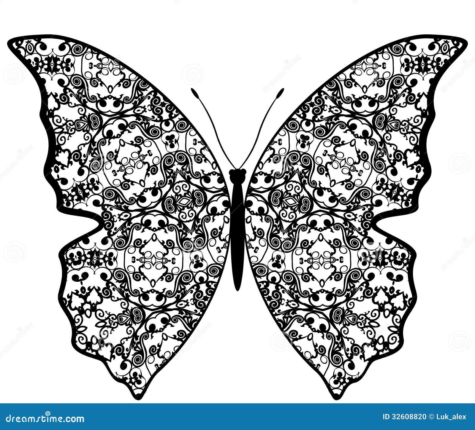 Exotiska fjärilsabstrakt begreppmodeller.