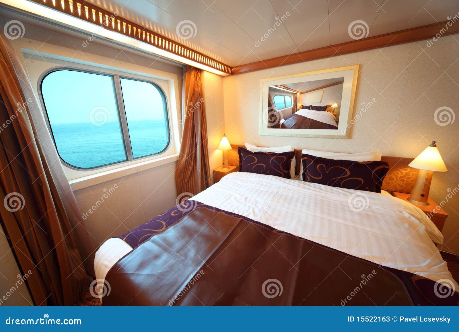 Expédiez la cabine avec le bâti et l hublot avec la vue sur la mer