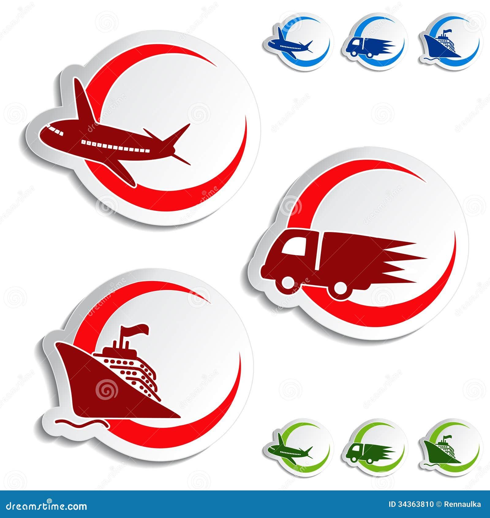 exp dition autocollants de la livraison voiture bateau avion photo stock image 34363810. Black Bedroom Furniture Sets. Home Design Ideas