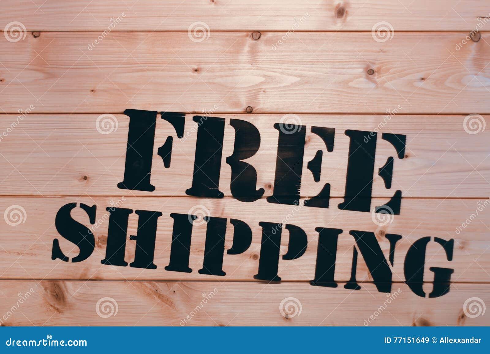 Expédition libre Mot gratuit d expédition sur la boîte en bois de transport Paquet gratuit d expédition