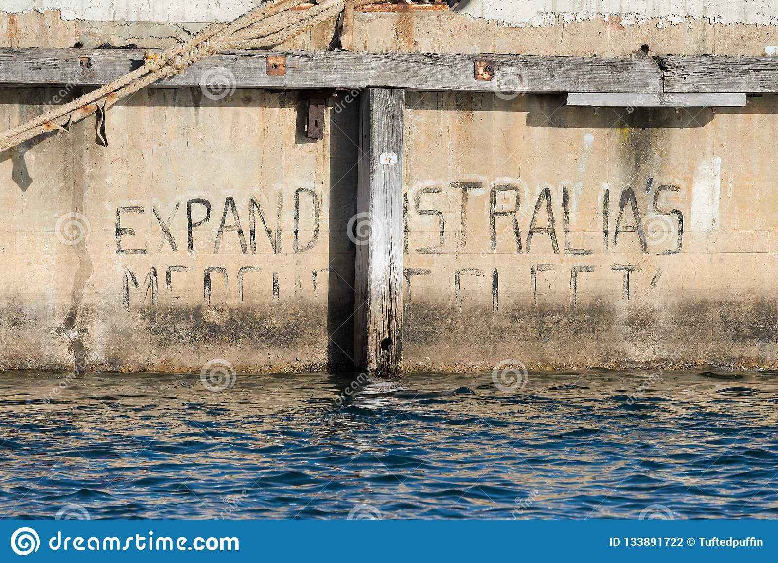 `Expand Australia`s Merchant Fleet` graffiti in South Australia
