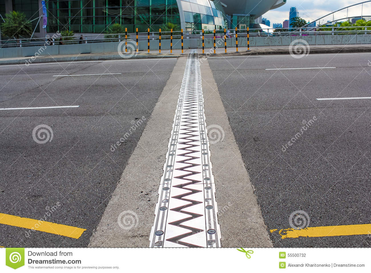 Expansion joint stock photo image