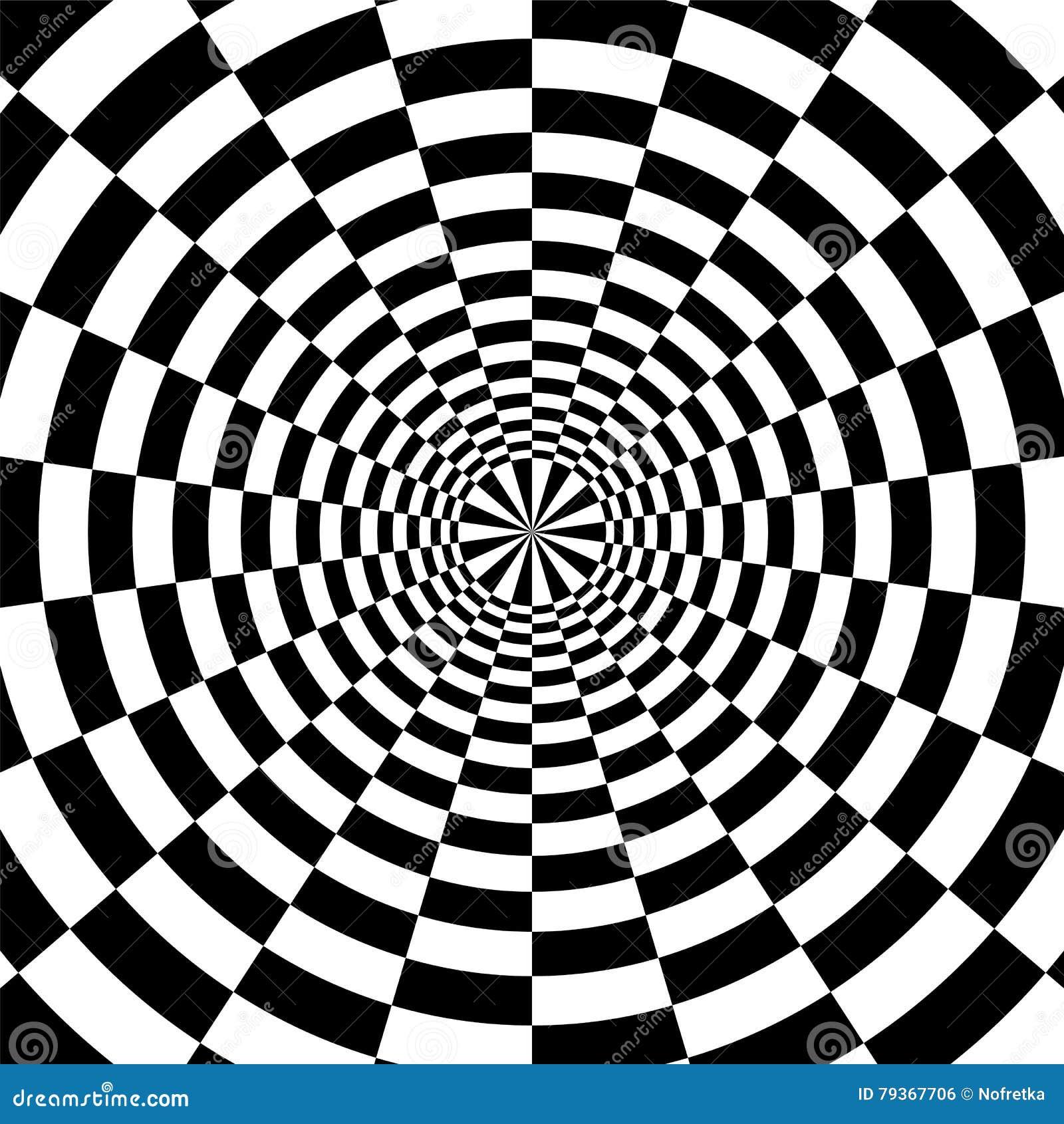 Expansion Radiale De Rectangles Noirs Et Blancs Du Centre Illusion