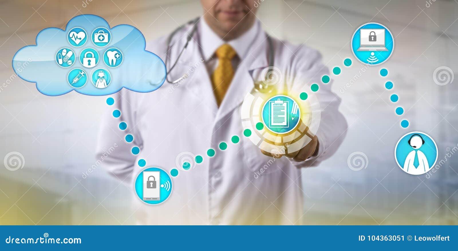 Expediente de Exchanging Electronic Medical del médico