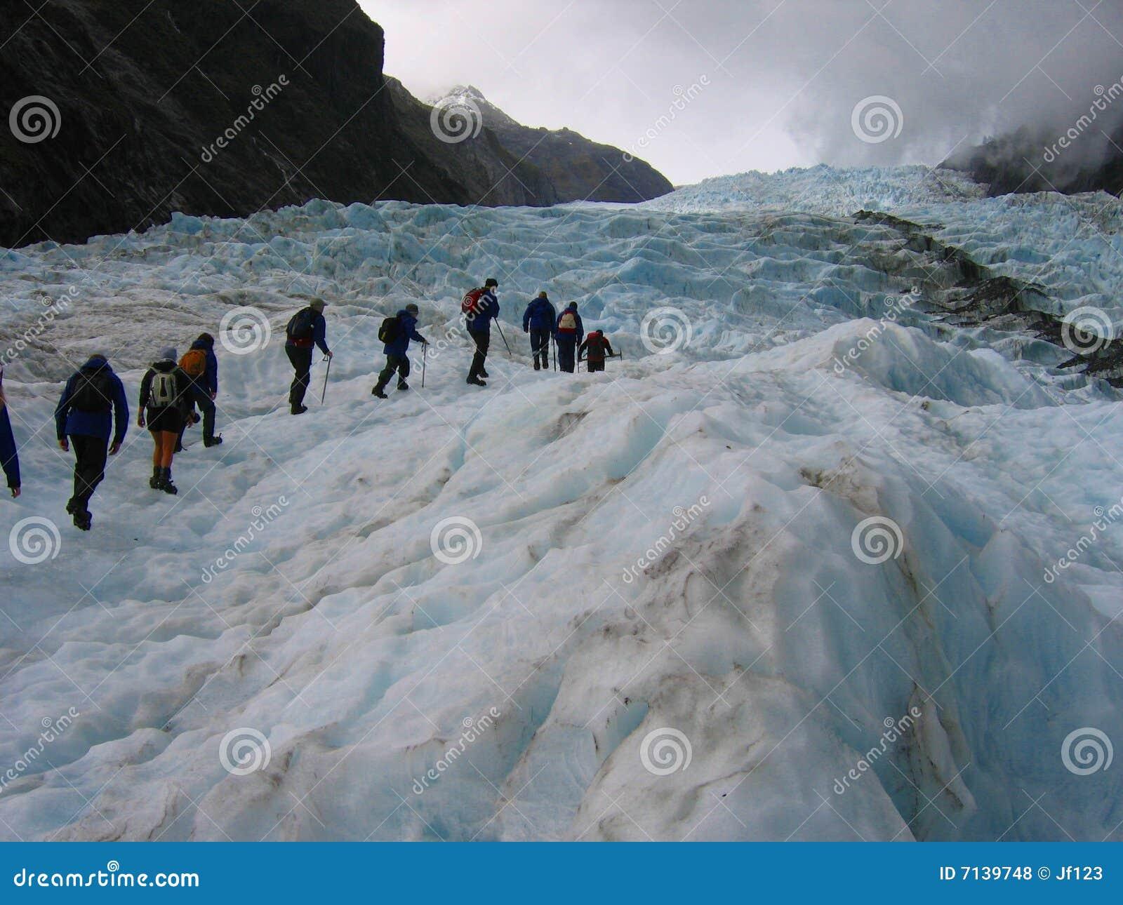 Expedition on a glacier