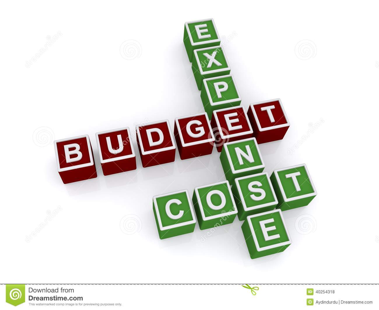 Economical House Plans Expense Budget Cost Crossword Stock Illustration Image
