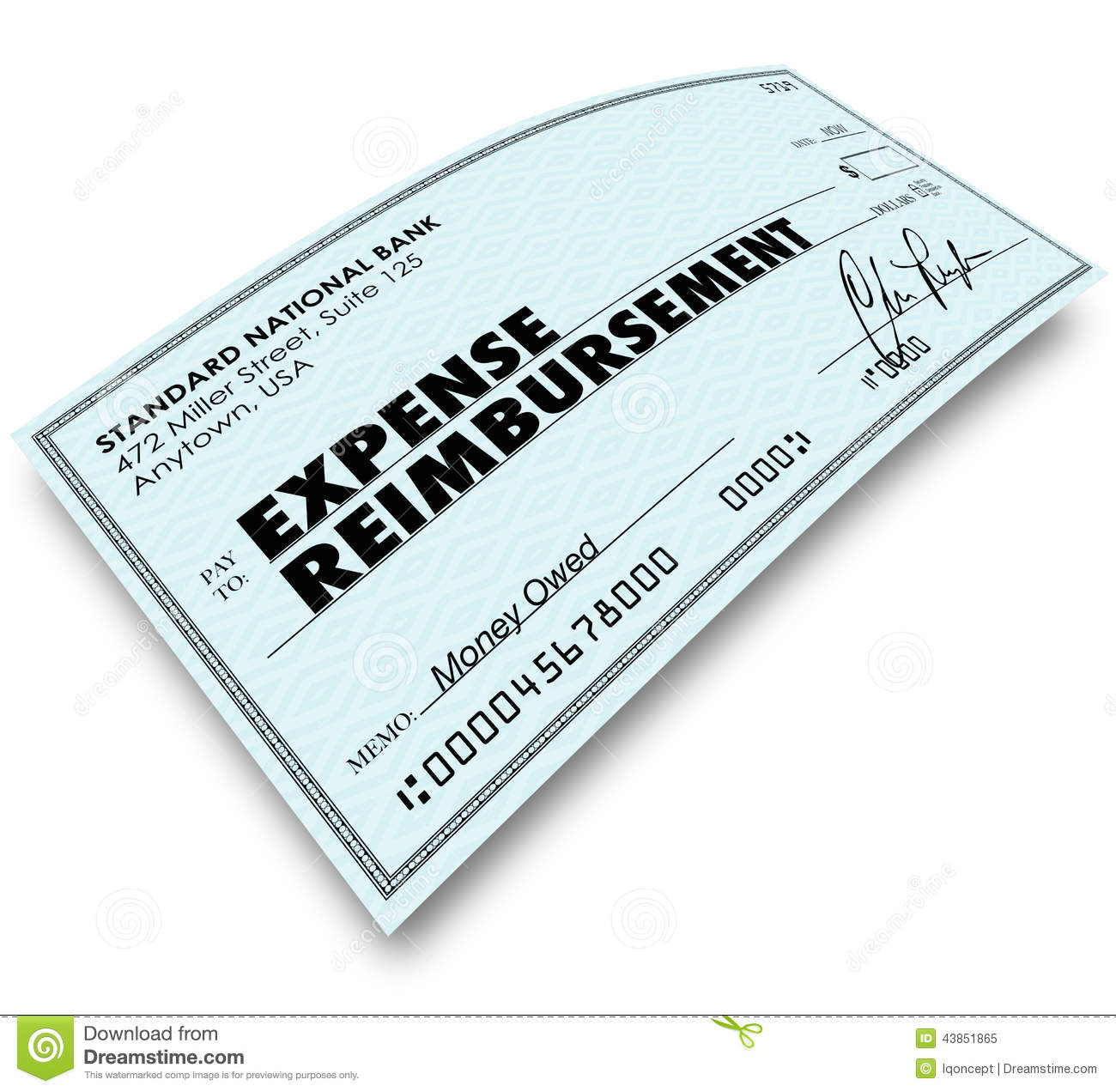 Expense Report Words On Check Reimbursement Payment Stock ...