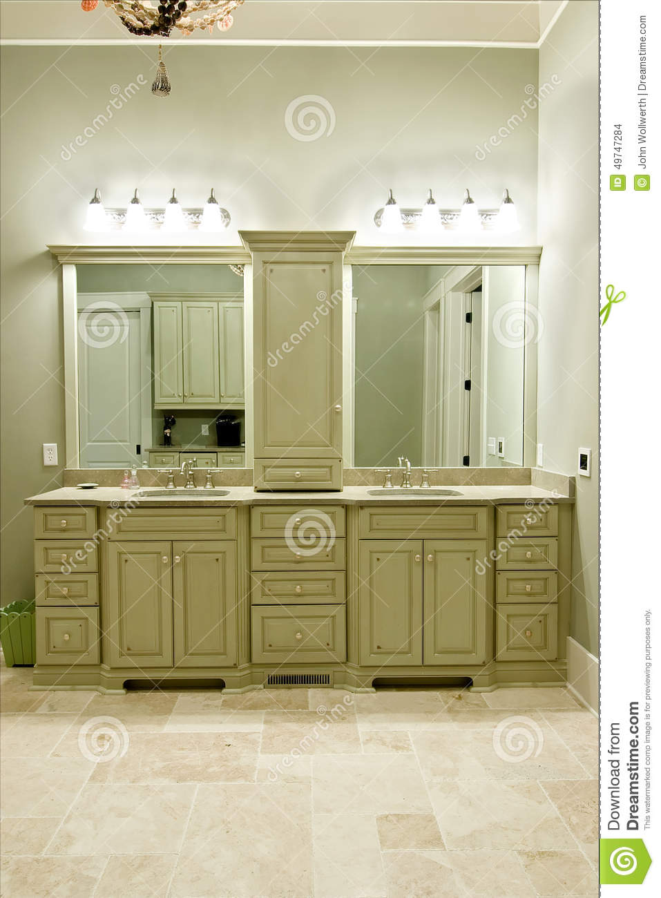 Expensive Bathroom Cabinets Stock Photo Image 49747284