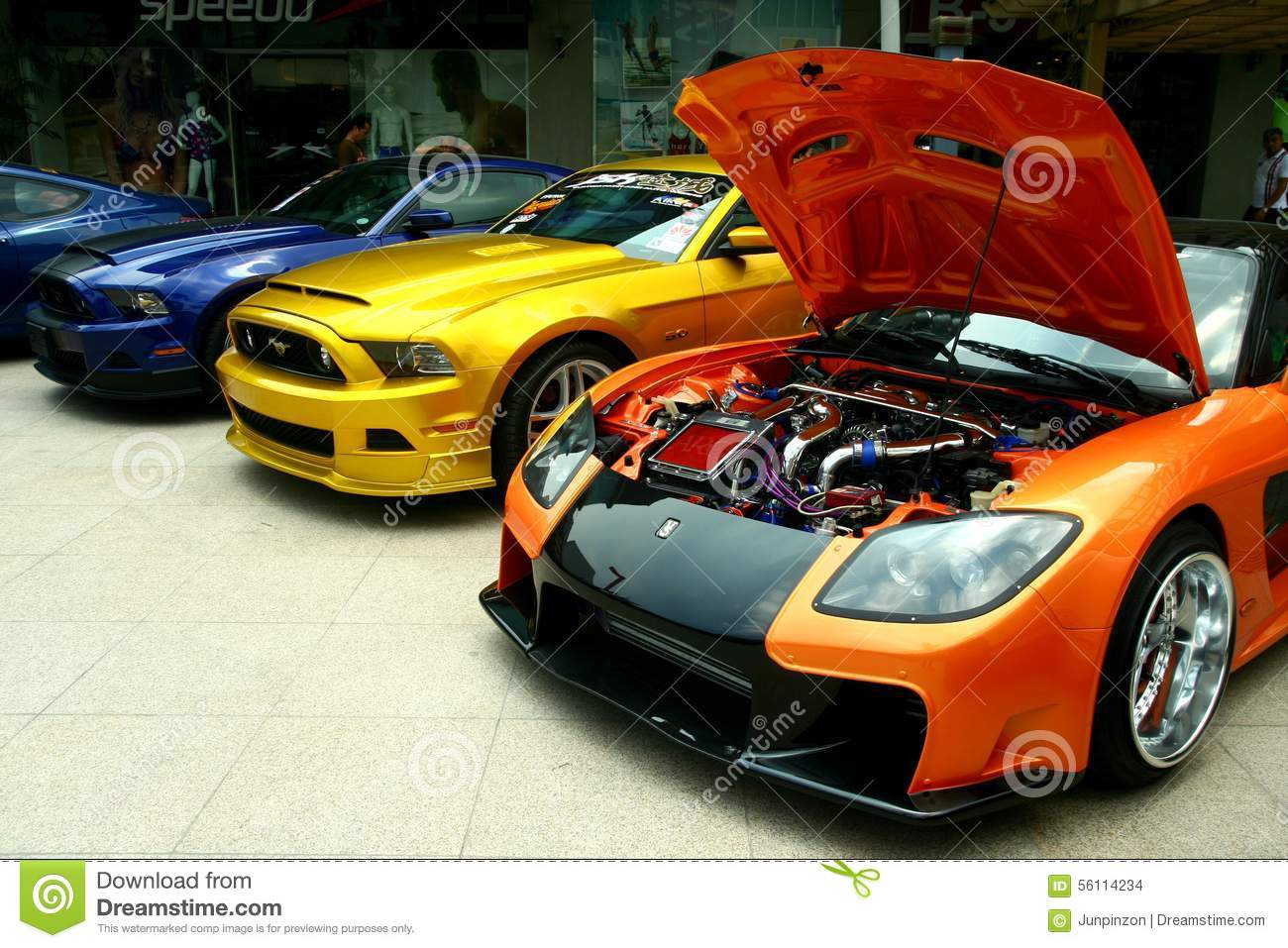 Expensive And Customized Luxury And Race Cars Editorial