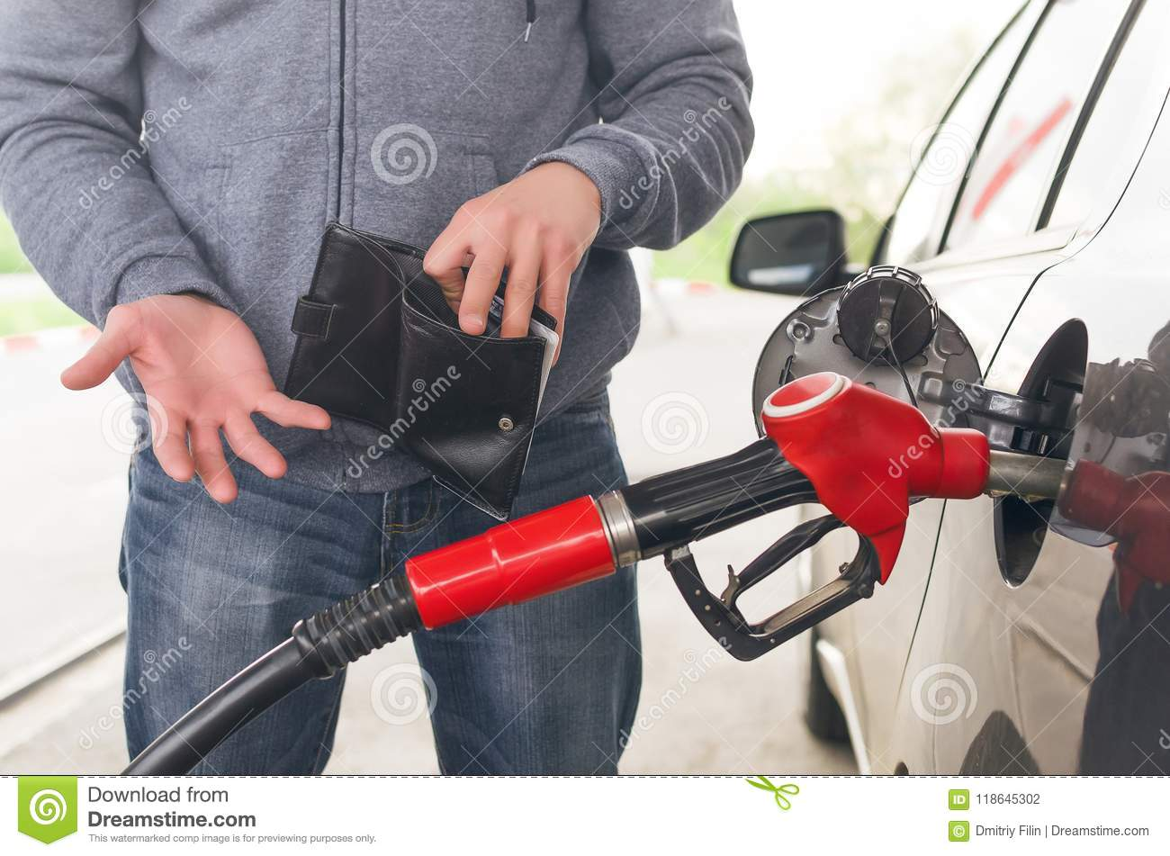 Expensive fuel. Not enough money for gasoline.