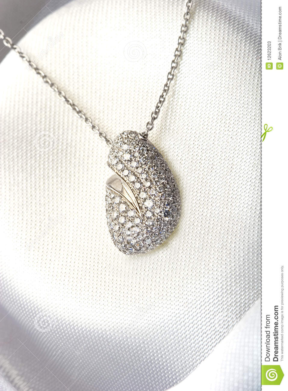 Expensive Jewelry Pave Diamond Necklace White Gold Stock