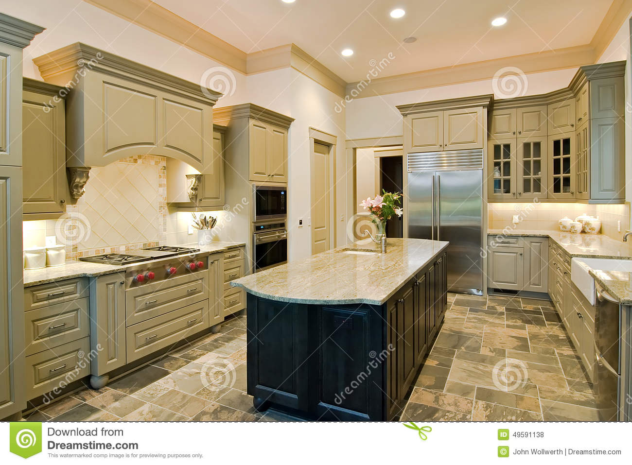Expensive Kitchen Stock Photo Image Of Comfortable Inside 49591138