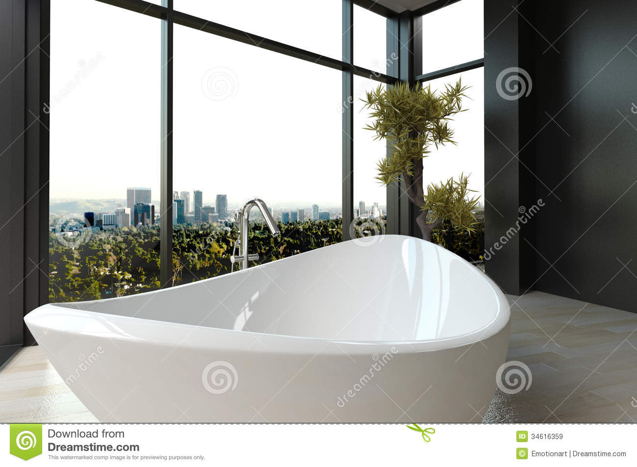 Bathtub Cityscape Expensive Luxury ...