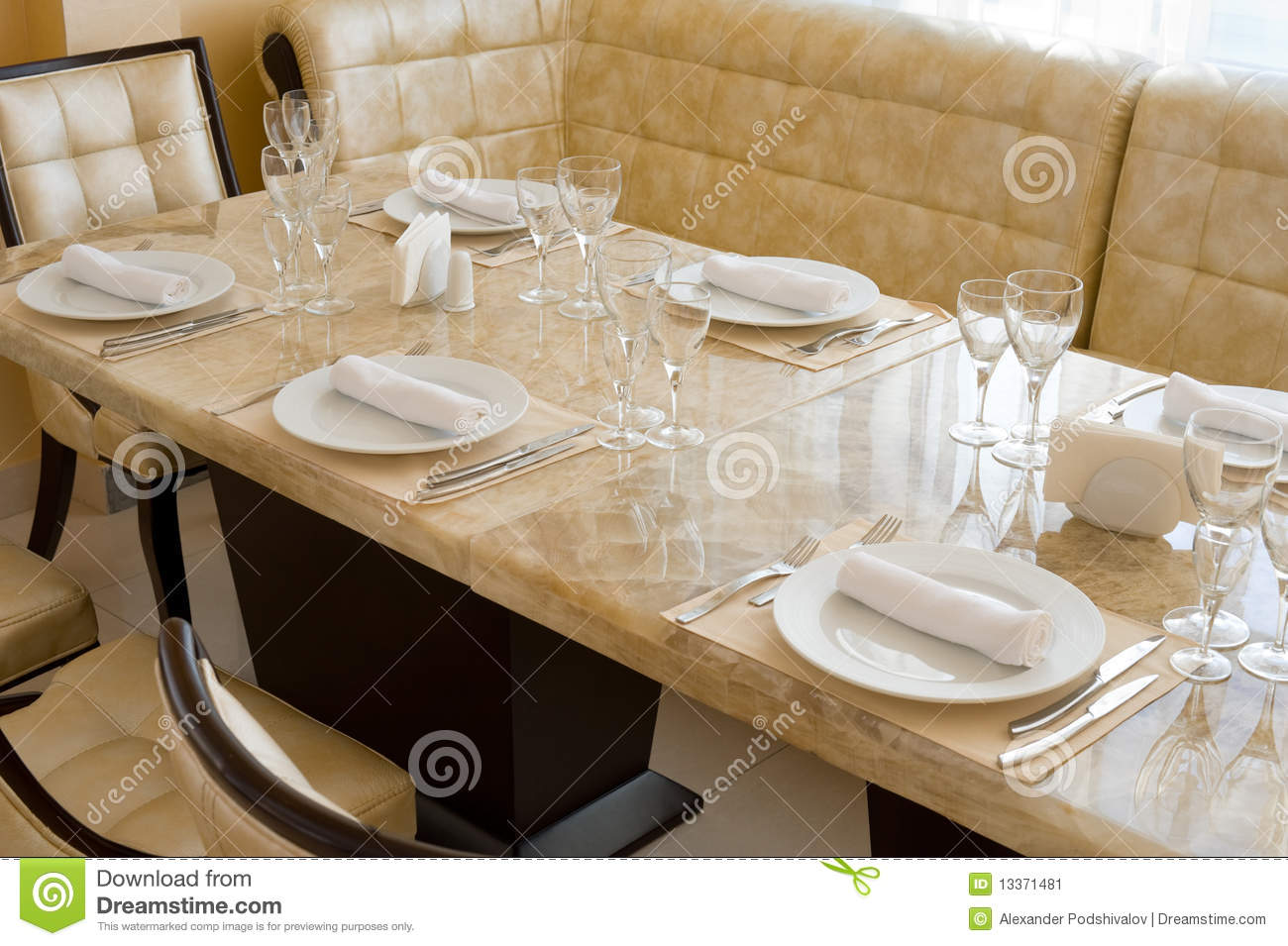 Expensive restaurant interior stock image