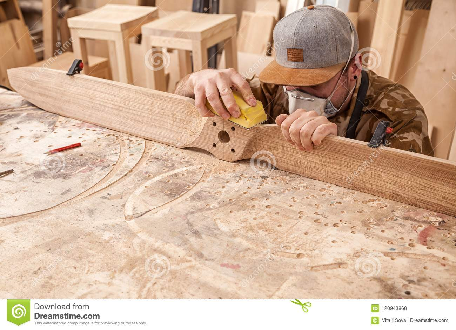 Experienced carpenter work stock photo  Image of