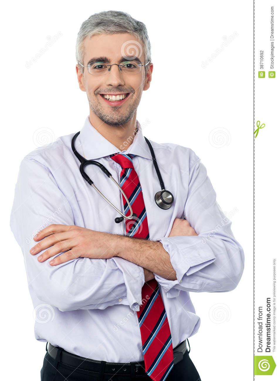 Experienced doctor with arms crossed