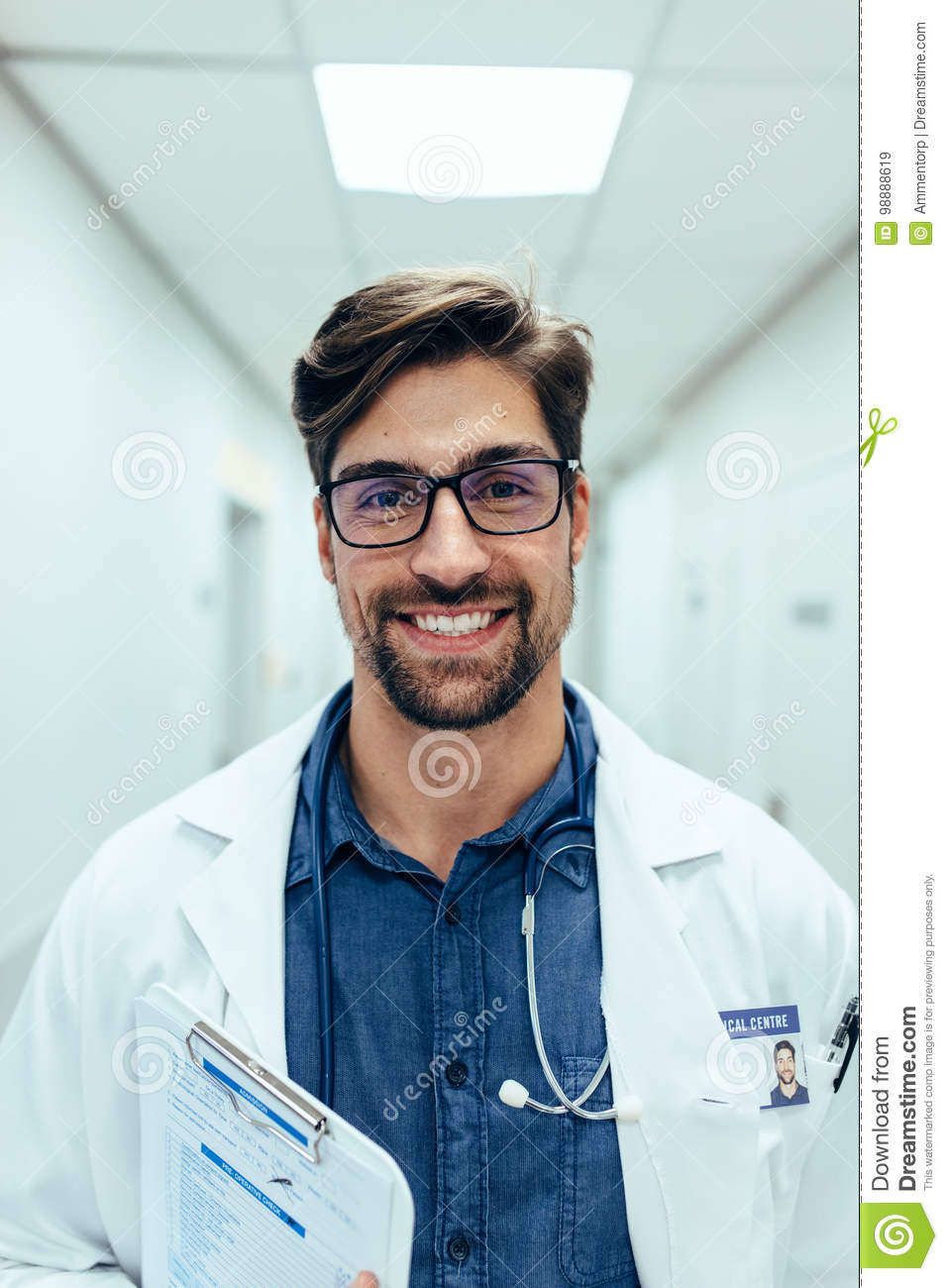 Experienced male doctor in hospital