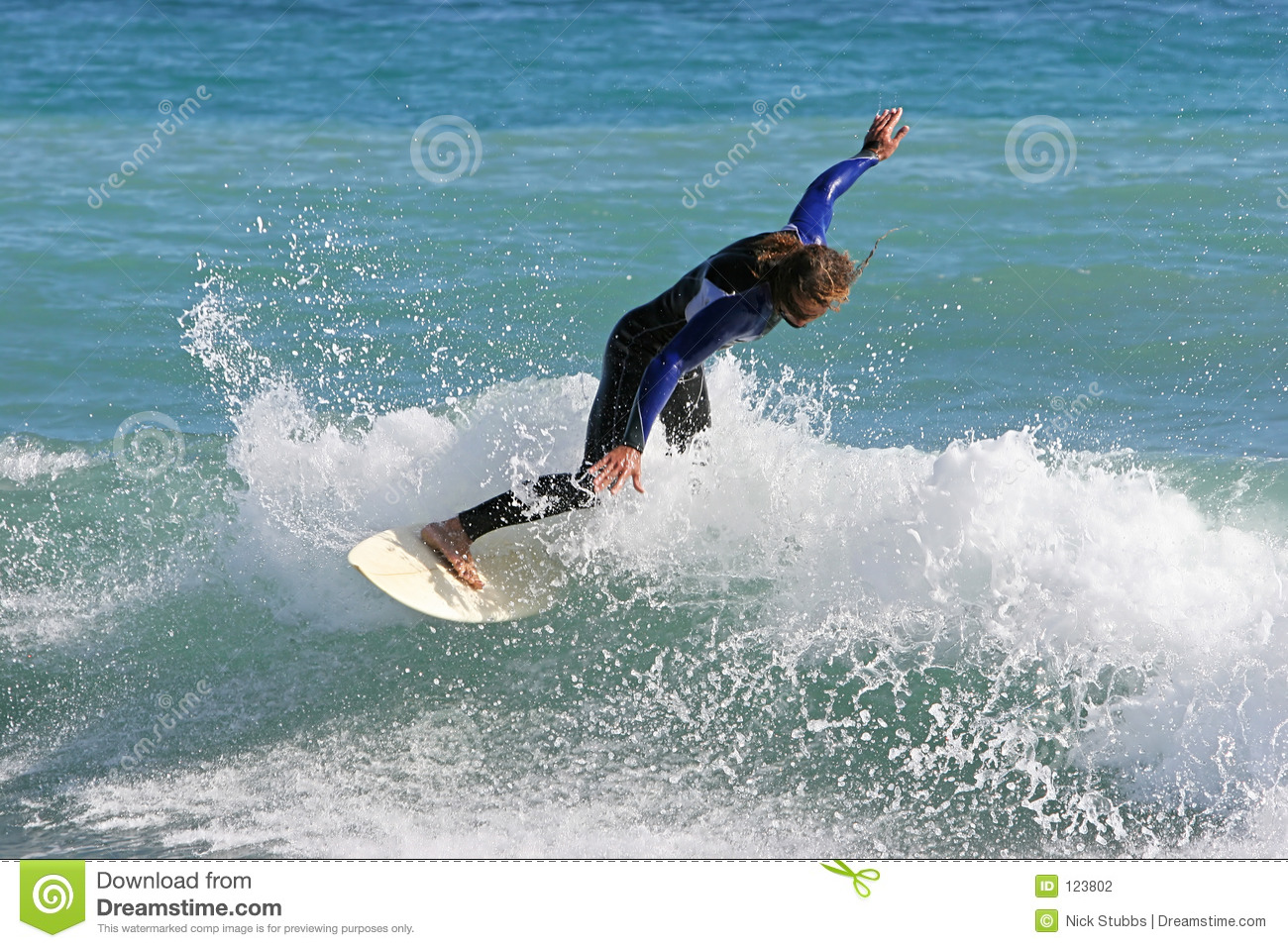 Experienced surfer carving an excellent wave