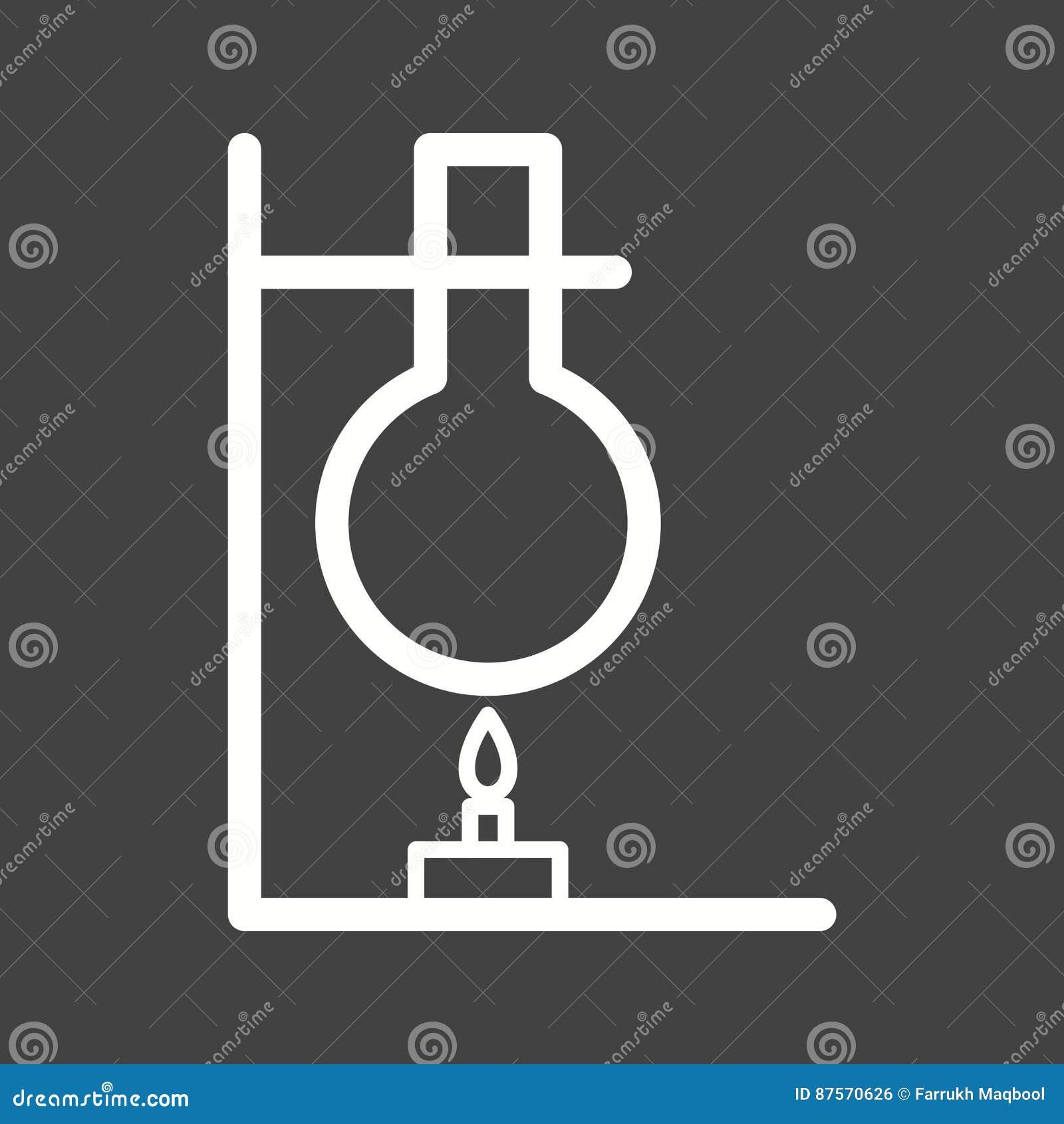 Experiment On Heat I Vector Illustration | CartoonDealer ...