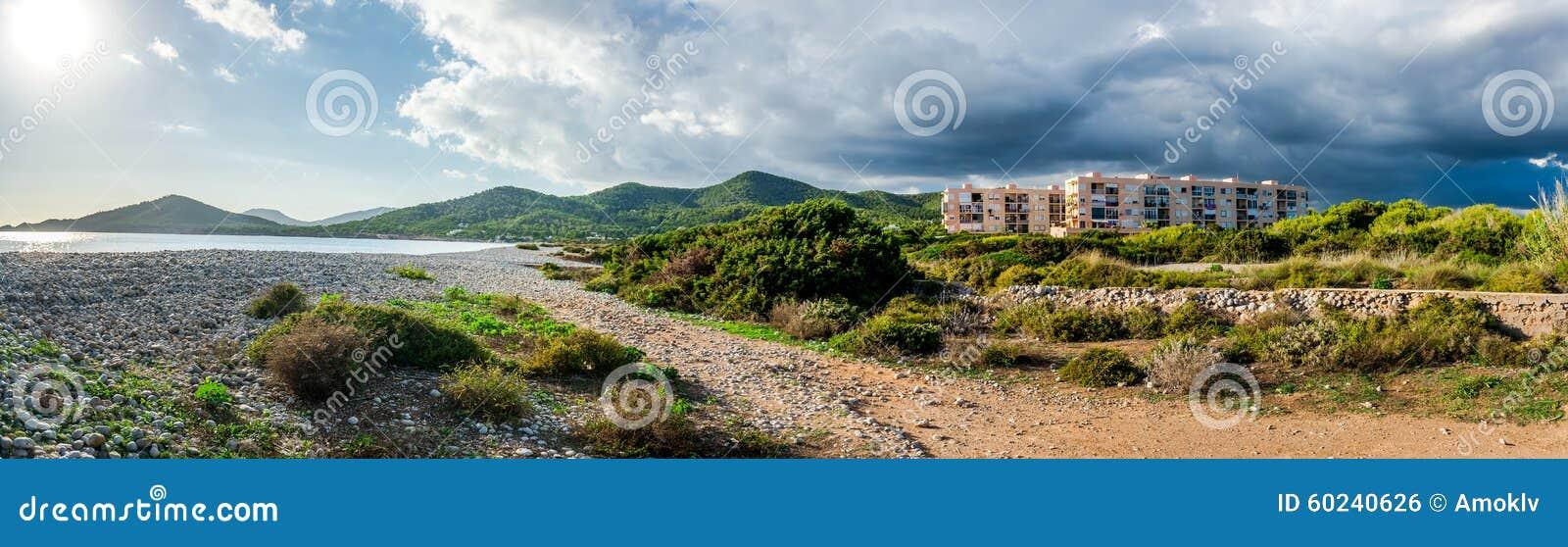Experimental Beach In Cap Des Falco In Ibiza  Spain Stock