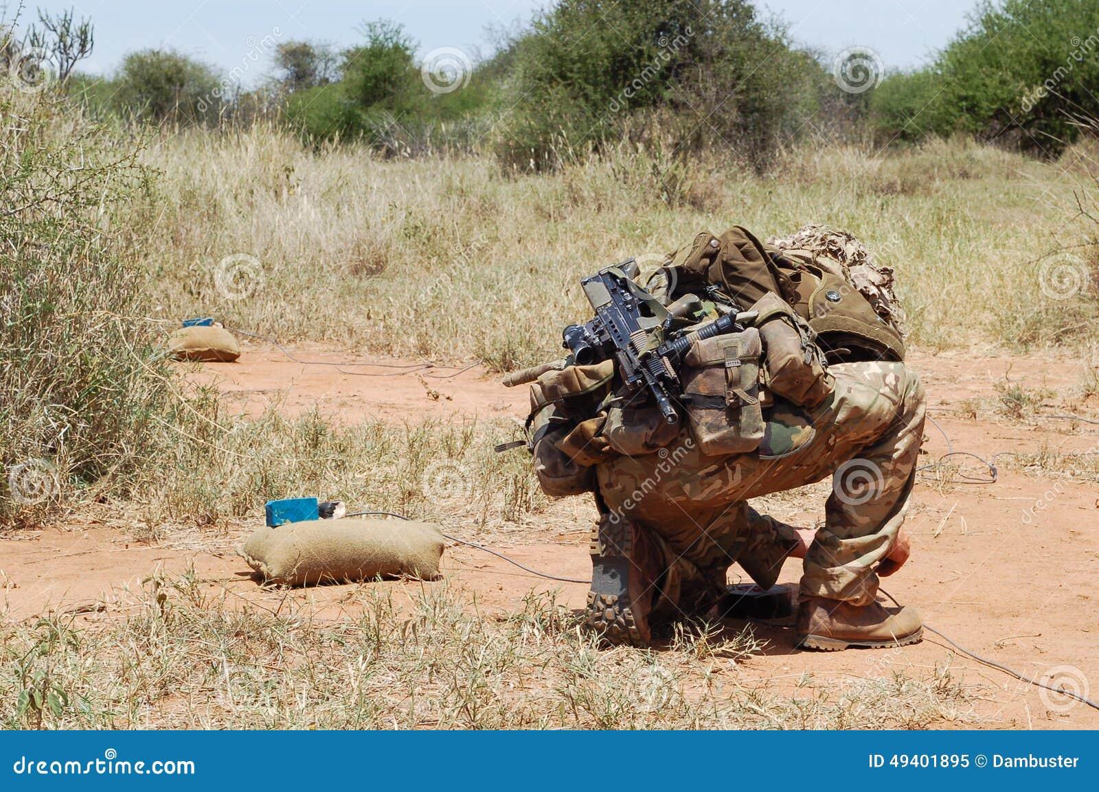 Expert en matière de déminage d armée britannique