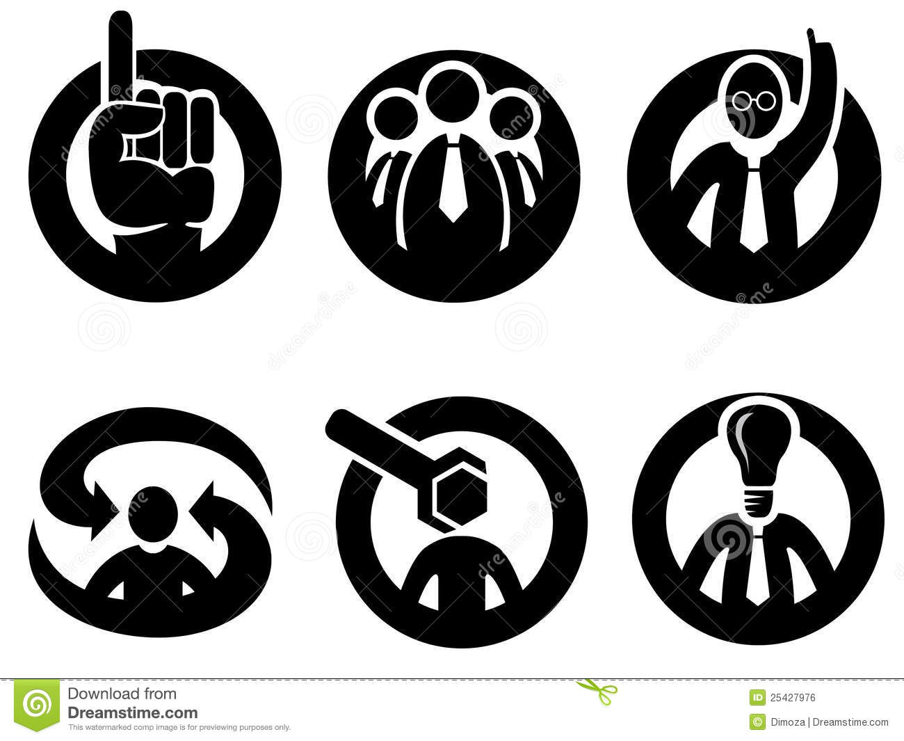 Expert Opinion, Decision Or Tip Icons Royalty Free Stock Image - Image ...