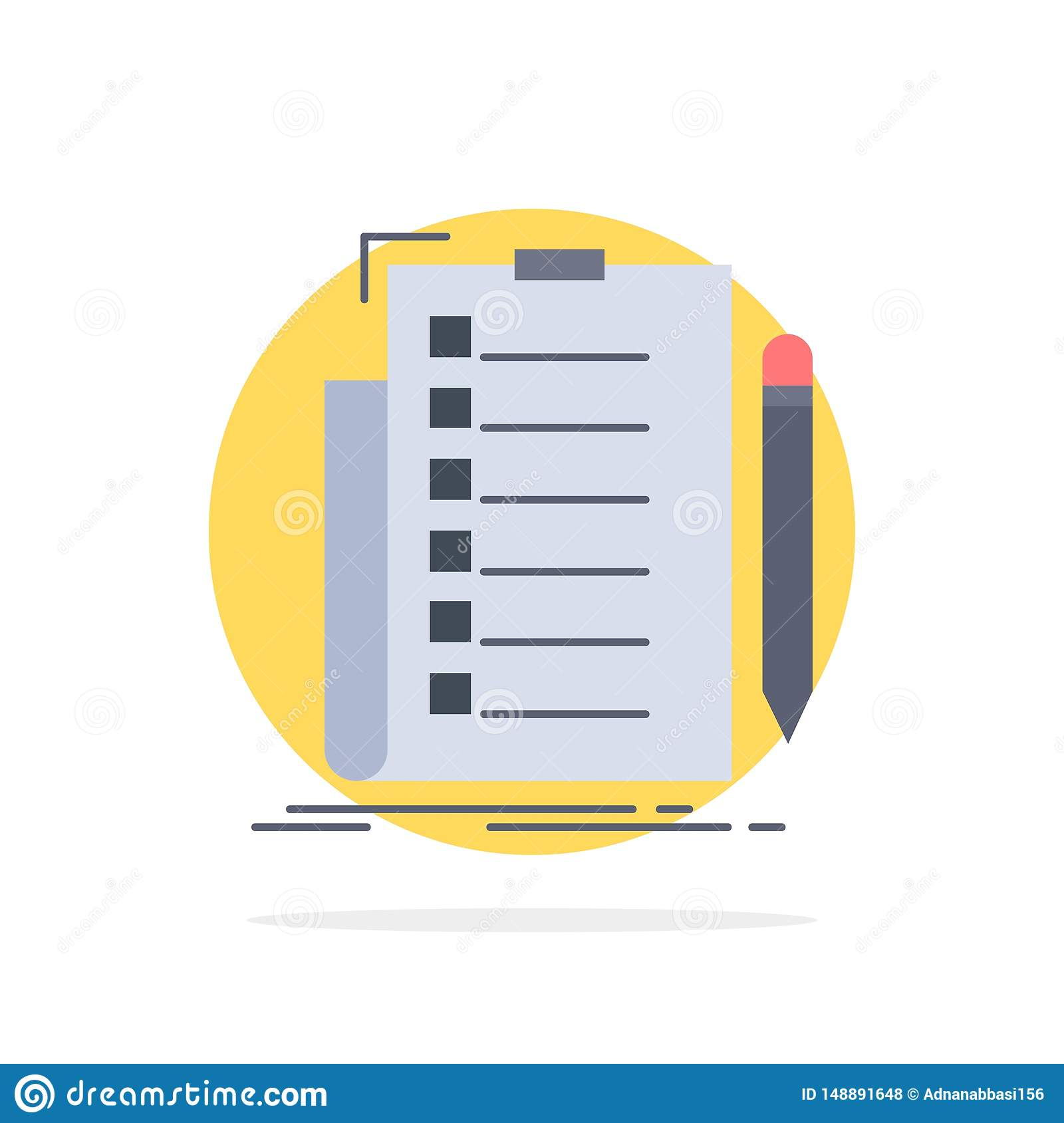 expertise, checklist, check, list, document Flat Color Icon Vector
