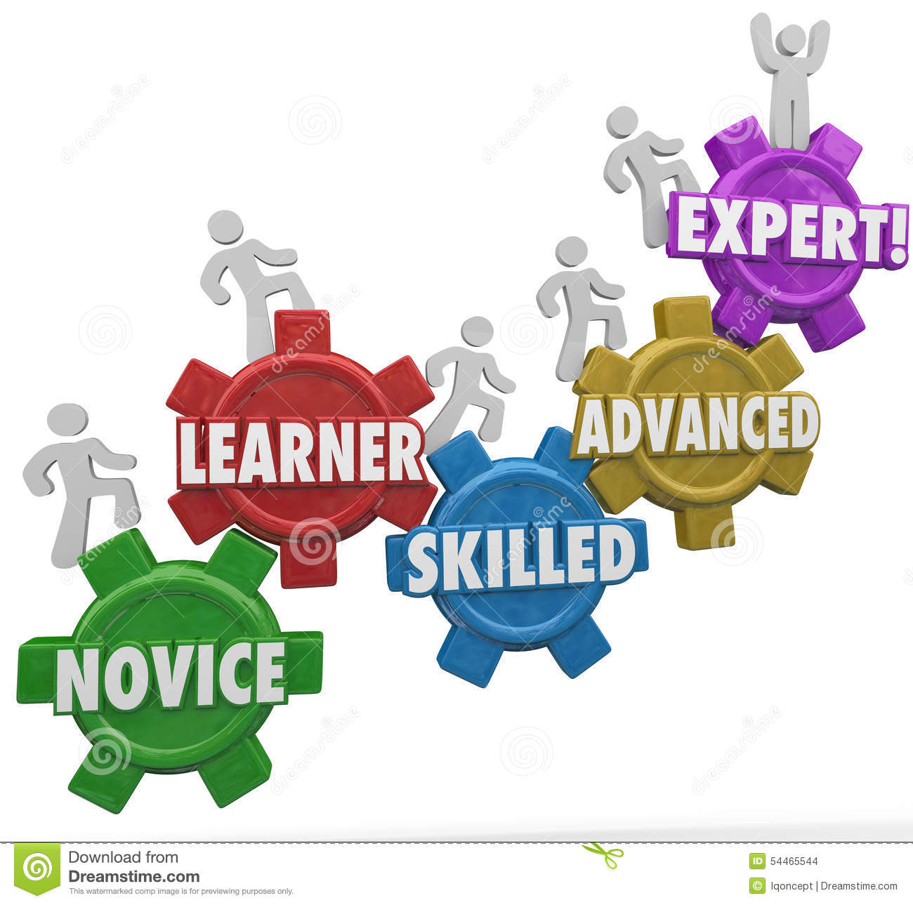 Expertise Levels Novice Learning Skilled Advanced People Climbin Stock ...