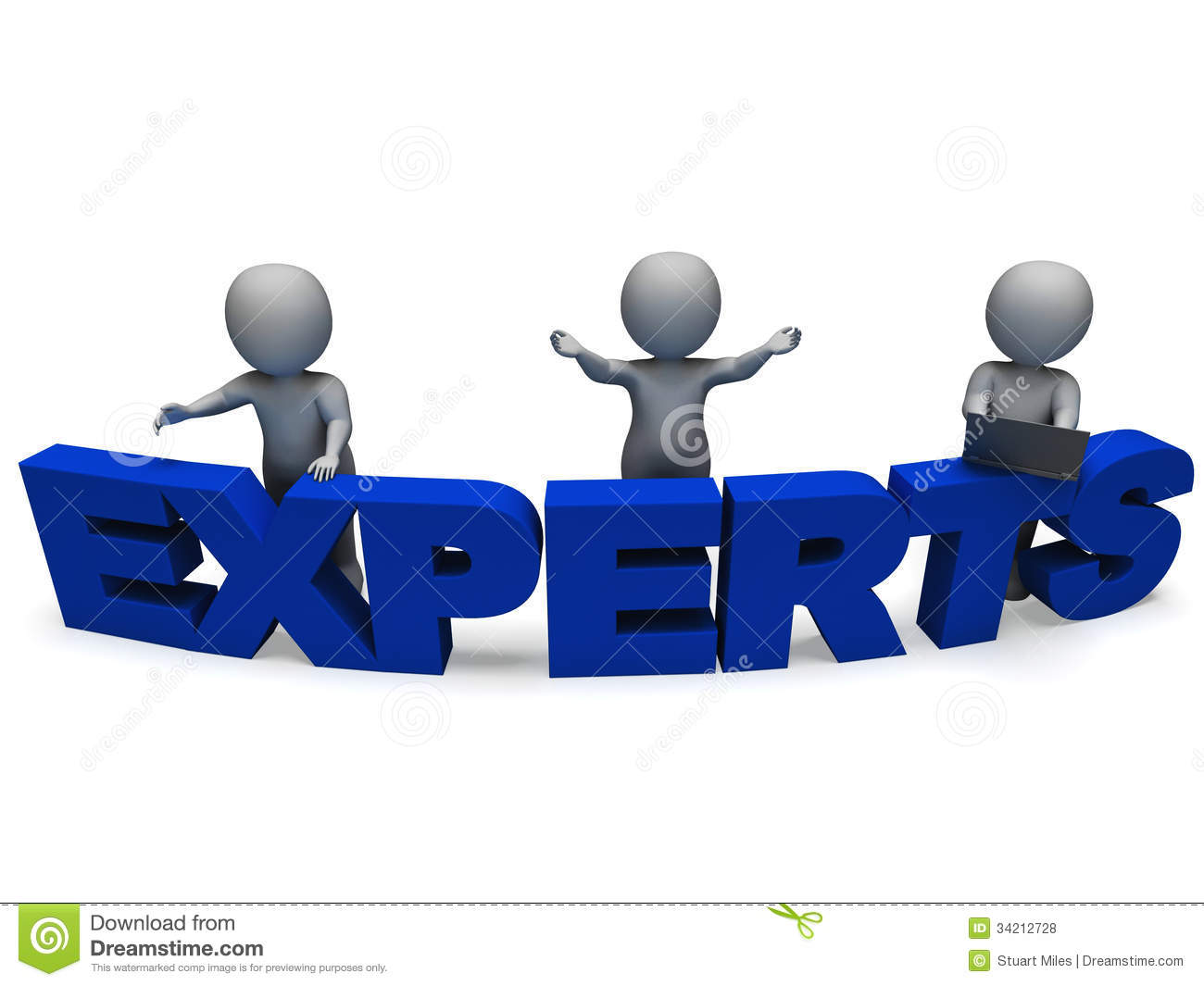 Experts Word Shows Expertise And Consultants Royalty Free